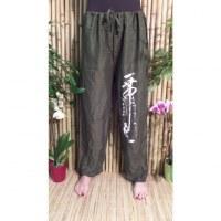 Pantalon kaki Vientiane calligraphie chinoise