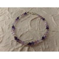 Bracelet perles cristal camaieu mauve