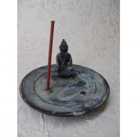 Porte encens gris Bouddha Bhaishavaguru