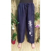 Pantalon marine Vientiane calligraphie chinoise