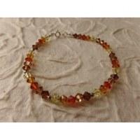 Bracelet perles cristal camaieu marron