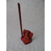 Petit brûle encens éléphant rouge