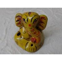 Petit brûle encens éléphant jaune