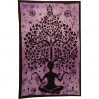 Tenture yogi arbre de vie mauve
