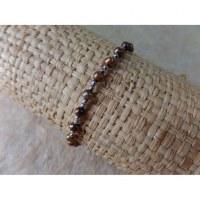 Bracelet perles rondes marron