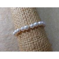 Bracelet blanc perles corail rondes