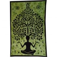 Tenture yogi arbre de vie vert