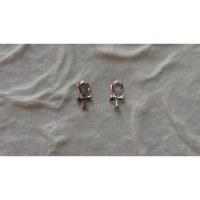 Boucles d'oreilles croix ansée