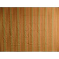 Tenture maxi Kérala rayée orange/vert
