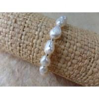 Bracelet perles corail nacré