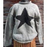 Pull gris étoile noire