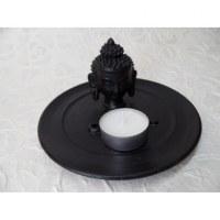 Porte encens noir tête de Bouddha