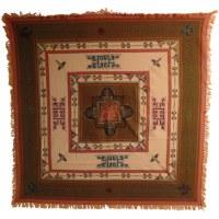 Tenture Chitwan marron/abricot éléphant Aum