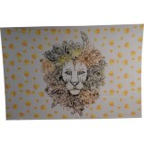 Tenture le lion jaune