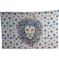 Tenture le lion bleu