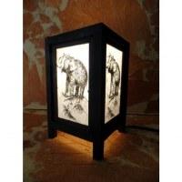 Lampe blanche l'éléphant