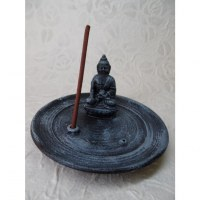 Porte encens noir/bleu Bouddha Bhaishavaguru