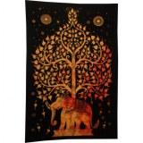 Tenture arbre de vie et éléphant flammé