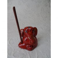 Brûle encens éléphant rouge