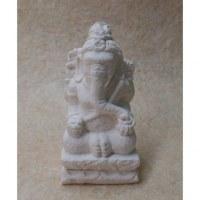Statuette en pierre reconstituée Ganesh blanc
