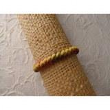 Bracelet Gili cuir color coton jaune