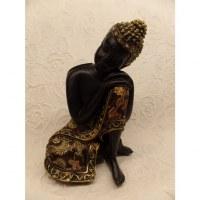Bouddha noir tête penchée