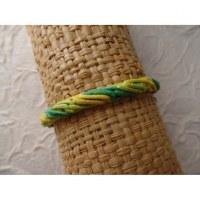 Bracelet tali vert/jaune modèle 12