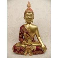 Bouddha Bhaishavaguru doré/rouge