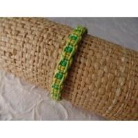 Bracelet tali vert/jaune modèle 11