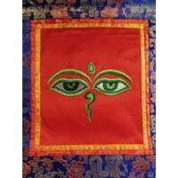 Tanka brodé les yeux de Bouddha
