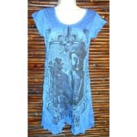 Mini robe natural inspiration bleue