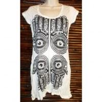 Mini robe blanche 4 khamsa