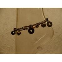 Bracelet de cheville marron foncé sapèques