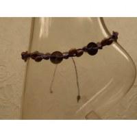 Bracelet de cheville violet sapèques