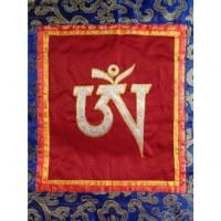 Tanka brodé Aum tibétain