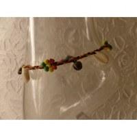Bracelet cheville shell rasta vert