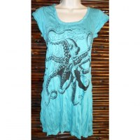 Mini robe turquoise poulpe