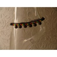 Bracelet de cheville rasta perles et grelots