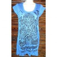 Mini robe bleue tattoo Ganesh