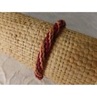 Bracelet tali saumon/marron/bordeaux modèle 2