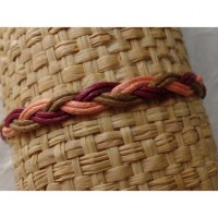Bracelet tali saumon/marron/bordeaux modèle 5