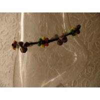 Bracelet cheville rasta 3 grelots