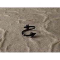 Piercing noir twist pointes
