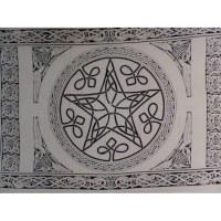 Tenture étoile celtik noir et blanc