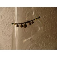 Bracelet cheville clochettes marron foncé