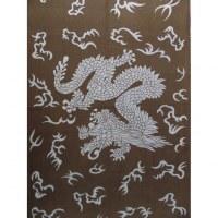 Tenture asian dragon bleu
