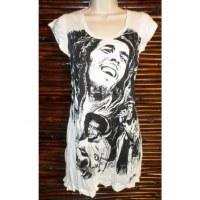 Mini robe loving Bob Marley blanc