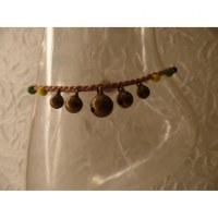 Bracelet cheville clochettes gris