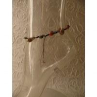 Bracelet cheville perles et coquillages