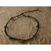 Bracelet cheville hin noir/vert